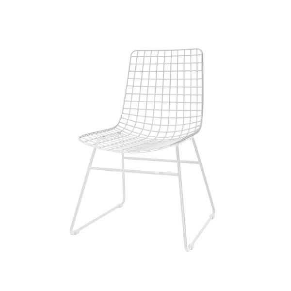 hk living chaise scandinave m tal blanc hk living. Black Bedroom Furniture Sets. Home Design Ideas