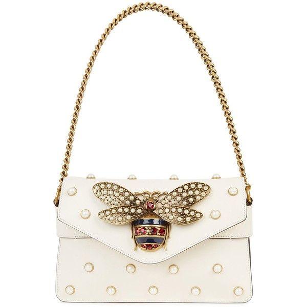 Bridal Shoes Harvey Nichols: Gucci Broadway Ivory Embellished Leather Clutch (88 560
