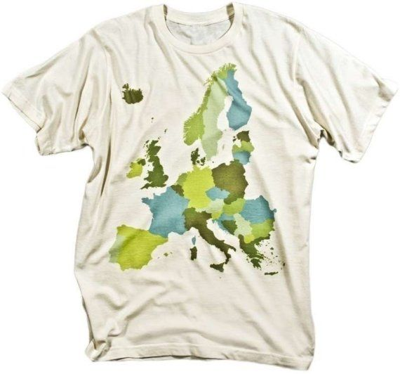 European Geography tshirt by isotope on Etsy, $15.00