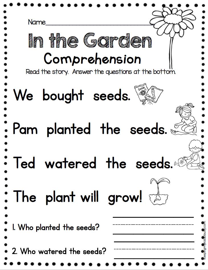 KINDERGARTEN Comprehension - Fun And Easy Way To Practice Fluency And…  Reading Comprehension Kindergarten, Reading Comprehension Worksheets,  Writing Comprehension