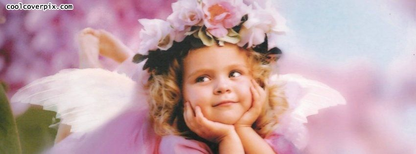 Cute Little Baby Girl Fairy Princess Facebook Cover Photo Upload