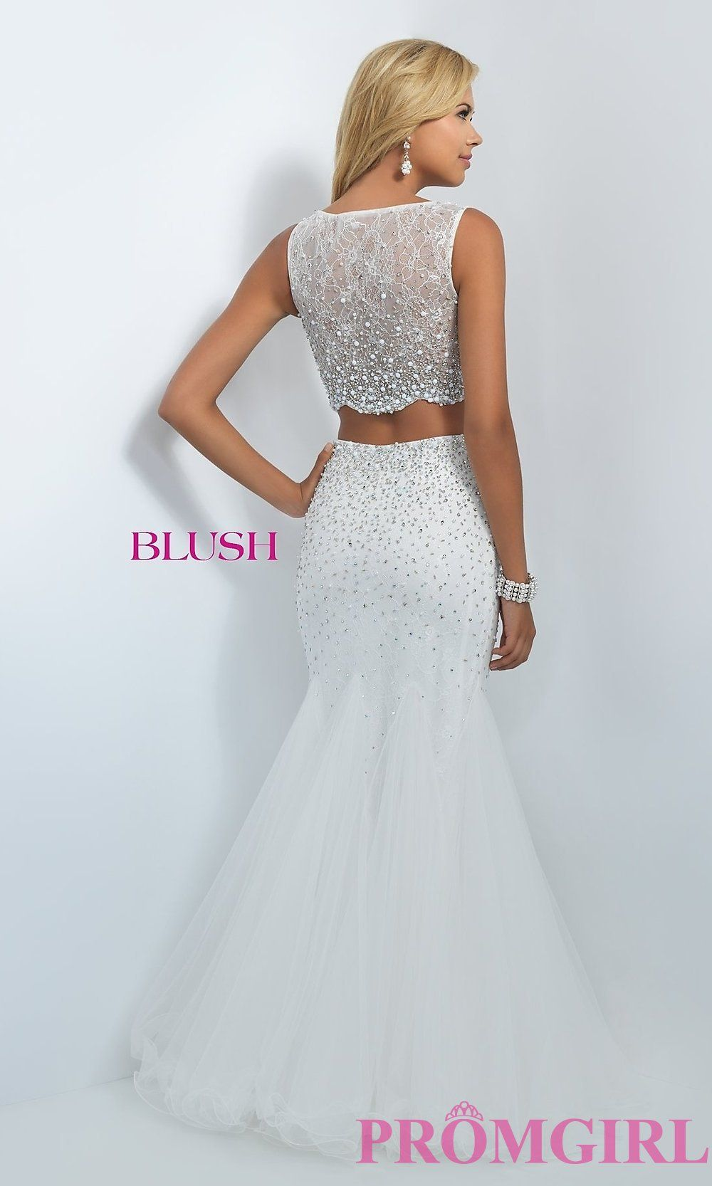 4e18cc93d696 Image of long two-piece dress Style: BL-11003 Back Image Prom Dresses