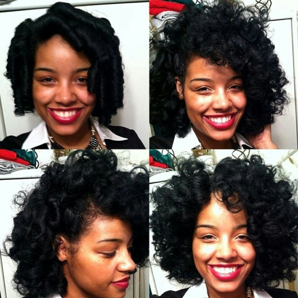I love these flexi rod results long hair dont careucnatural hair