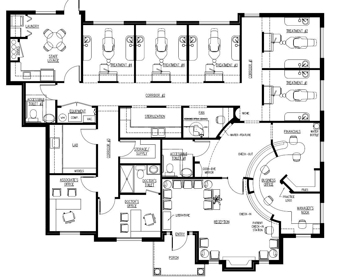 Office plan google search plans pinterest and for Orthodontic office design floor plan