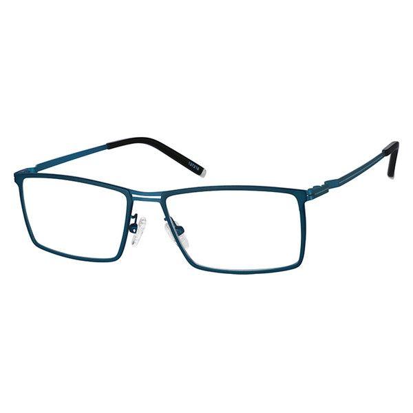 6e34624395c9 Black Titanium Rectangle Glasses #137221   Zenni Optical Eyeglasses ...