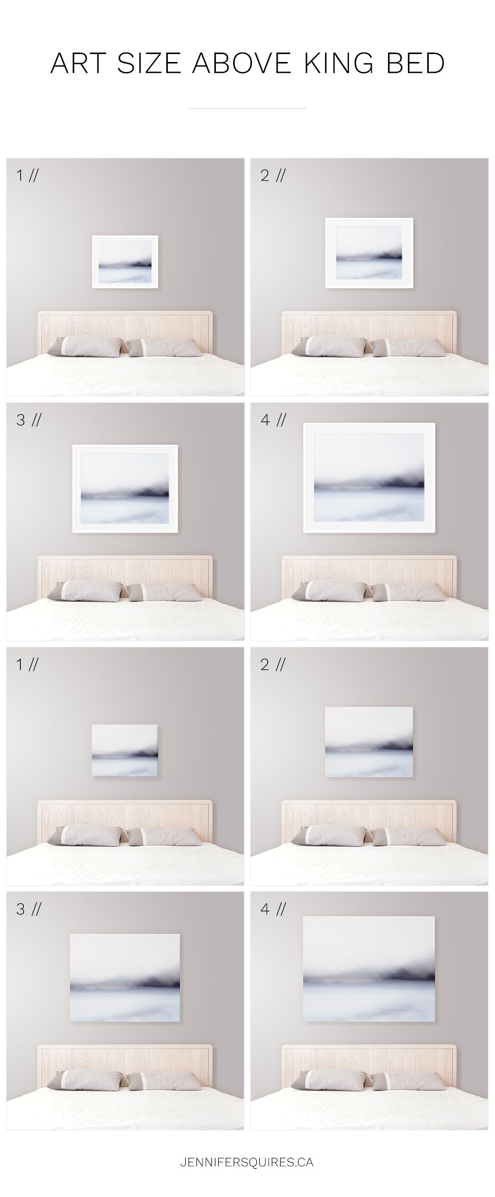 Ideal Art Size Above King Bed Modern Coastal Bedroom Decor Tips Wall