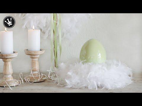 DIY - Frühlingsdeko | Kranz aus Federn ganz einfach selber machen ...