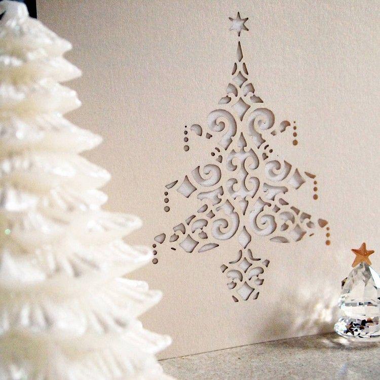 weihnachtsbaum scherenschnitt weihnachtskarte basteln. Black Bedroom Furniture Sets. Home Design Ideas