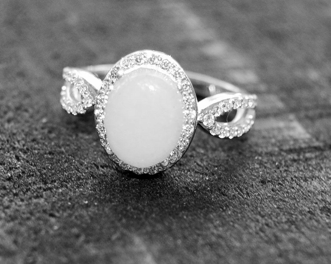 ea9996c633c47 Stunning Sterling Silver Halo Breast Milk Ring Red Fern Keepsakes ...