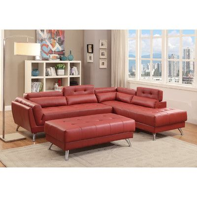 Remarkable Orren Ellis Anzavia Sectional Products Leather Sectional Download Free Architecture Designs Momecebritishbridgeorg