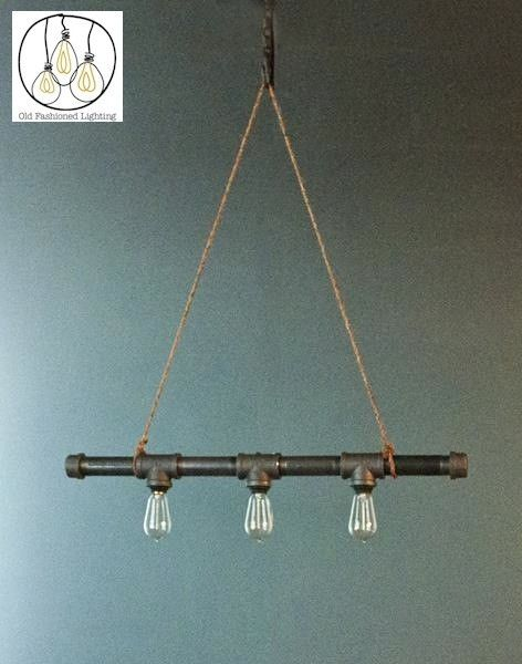 Fashion Lighting Woodard 3 Bulb Iron Pipe Chandelier At Oldfashionedlighting Light Fixtures