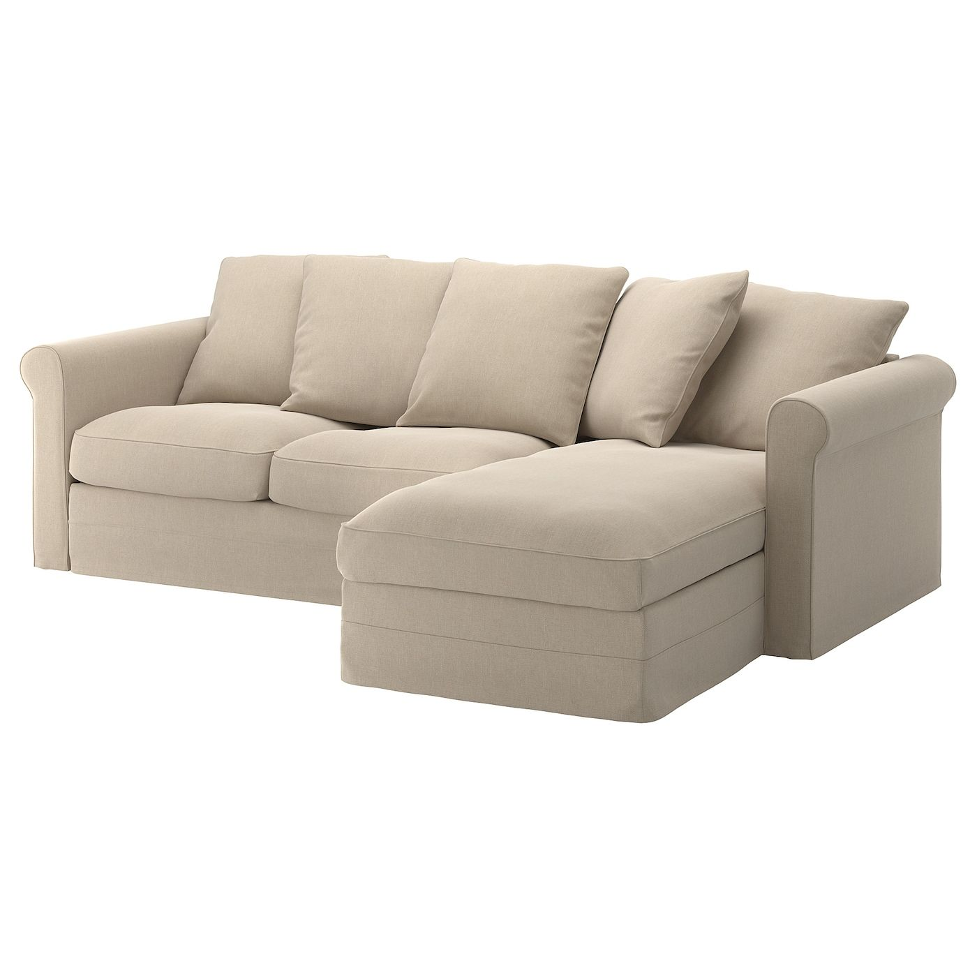 Gronlid 3er Sofa Mit Recamiere Sporda Naturfarben Ikea Deutschland In 2020 Cheap Sofa Sets Cheap Sofas Ikea Sofa