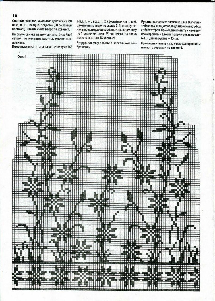 Crochet Blouse #filetcrochet