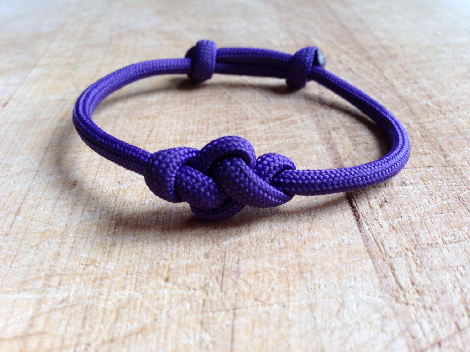 Eternity Knot Adjustable Paracord Bracelet Paracord Paracord