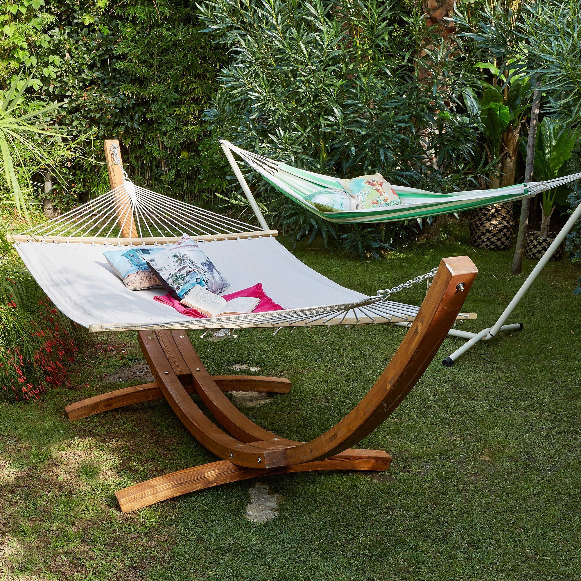 Ensemble support et toile de hamac copa hamacs Alinea jardin mobilier