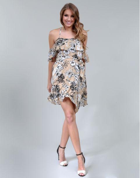 56c21a424 VESTIDO FLUID FLOWER OPVC0335 MarketFashion | Dress up! Nossos ...