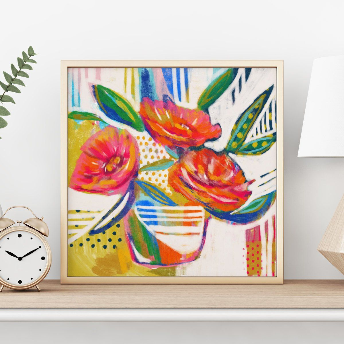 Floral Bouquet Print Digital Art Digital Painting Abstract Floral Poppy Flowers Painting Flower Painting Flora Flower Painting Abstract Floral Floral Art