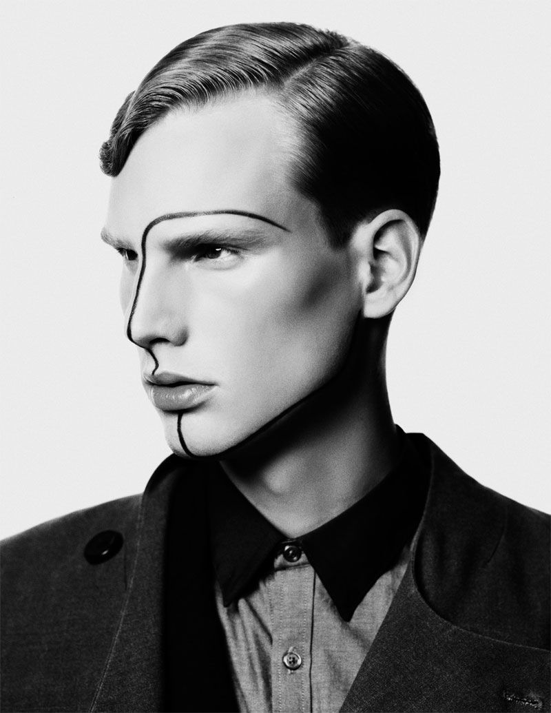 Guy Makeup Youtube: COUTE QUE COUTE: NEW WAVE MEN'S EDITORIAL »MADE MEN« SHOT