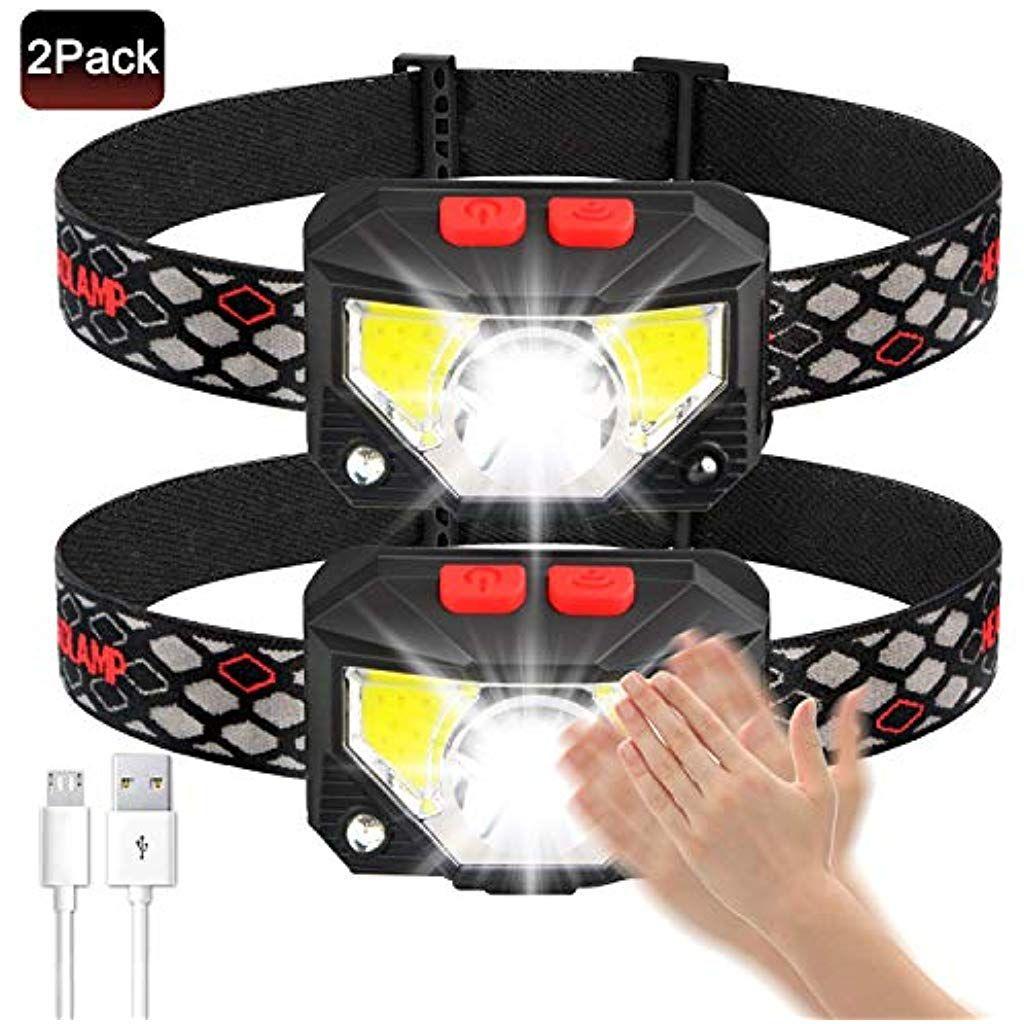 6400mAh USB Wiederaufladbare Stirnlampe Kopflampe Wasserdicht Leichtgewichts zknen111 Stirnlampe LED