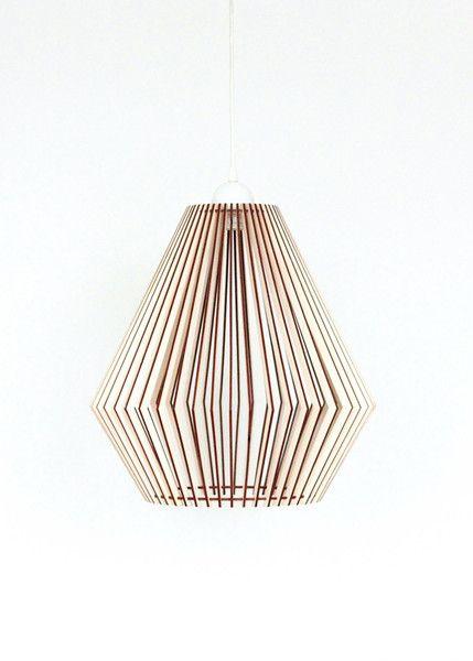 Hangelampen 40cm Holz Lampe Pendelleuchte Holz Hangelampe Ein
