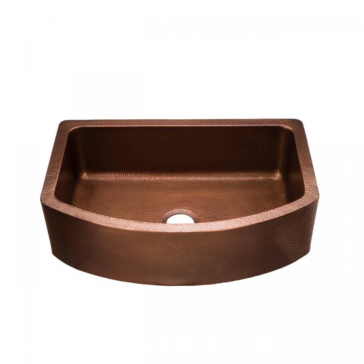 33 Inch Copper Single Bowl Apron Farmhouse Sink Farmhouse Apron Sink Farmhouse Sink Copper Farmhouse Sinks
