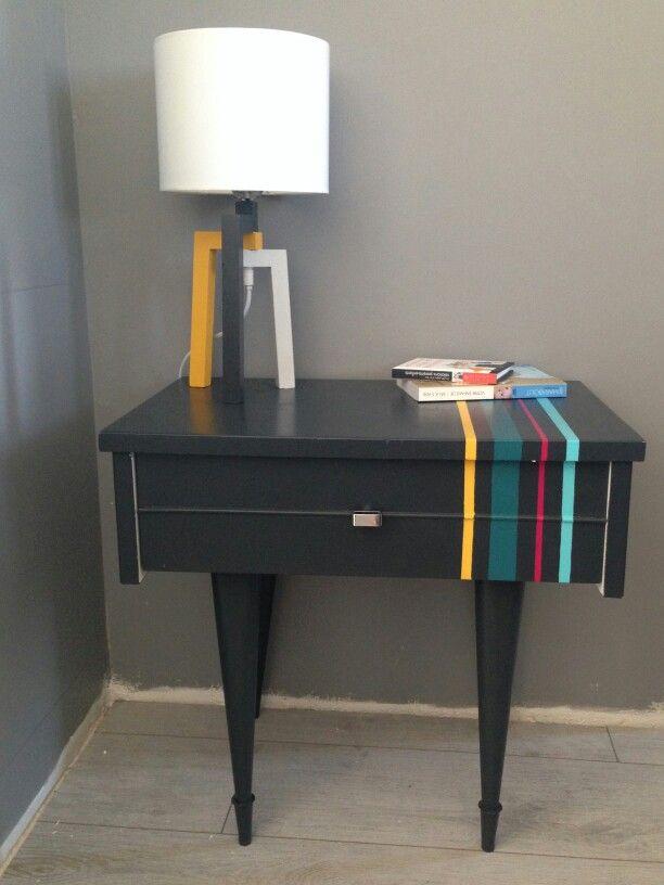 table de chevet ann e 70 vintage flo en 2019 table de. Black Bedroom Furniture Sets. Home Design Ideas