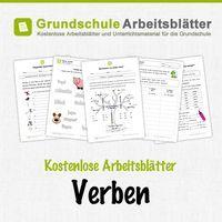 kostenlose arbeitsbl tter und unterrichtsmaterial f r den deutsch unterricht zum thema verben in. Black Bedroom Furniture Sets. Home Design Ideas