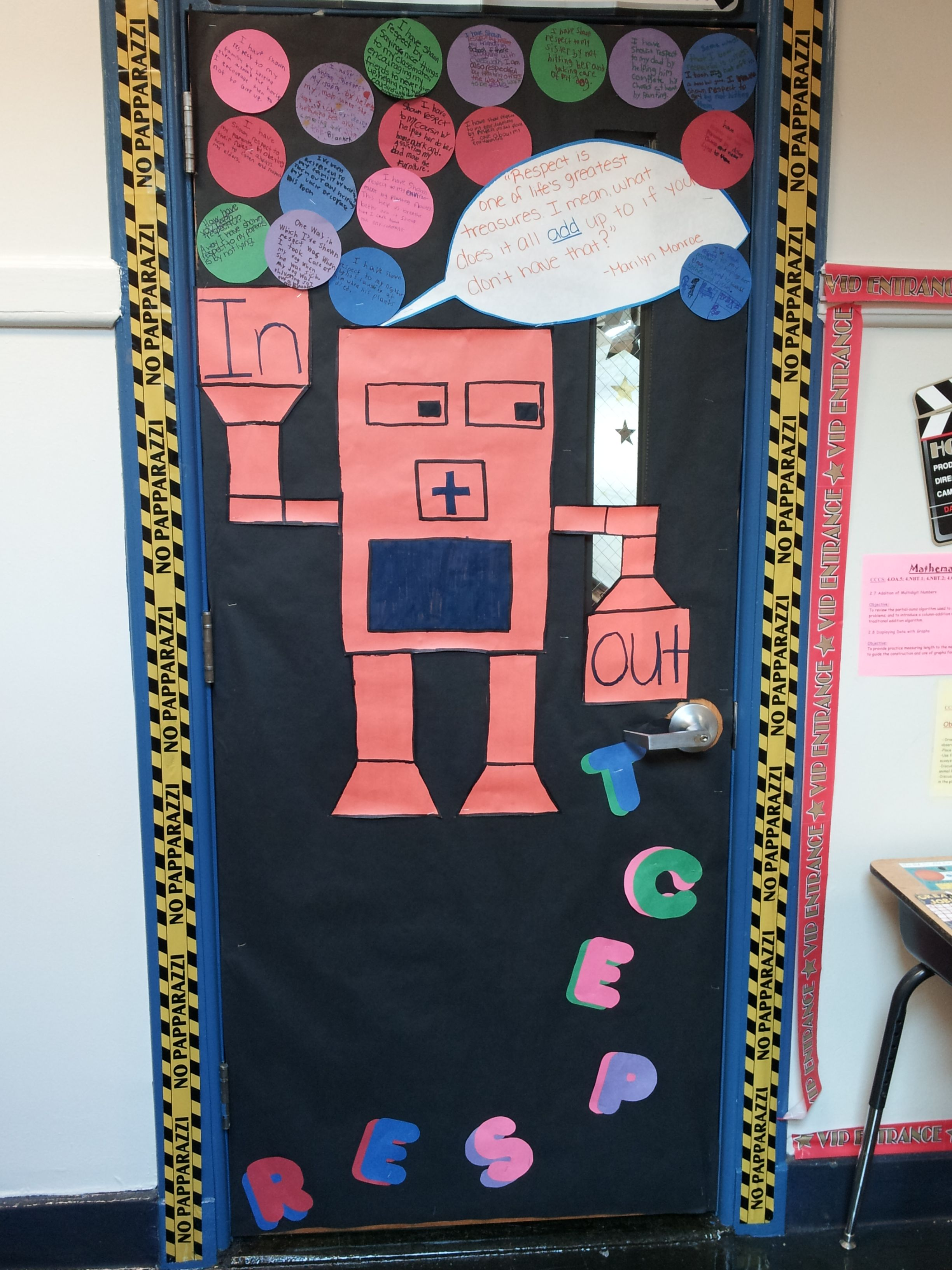 Math Theme For The Door Decorating Contest For Respect