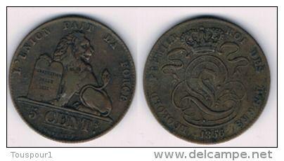 Belgium - 5 centimes - Léopold Ier KM# 5 1856  - good quality