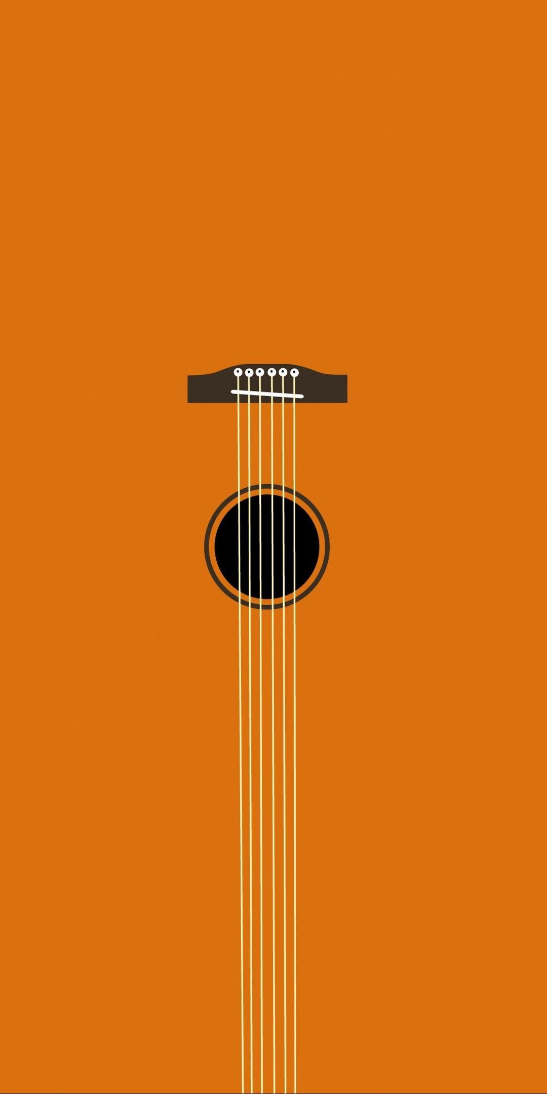 Minimal Music Guitar Art 1080x2160 Wallpaper Guitar Wallpaper Iphone Minimalist Wallpaper Acoustic Guitar Photography