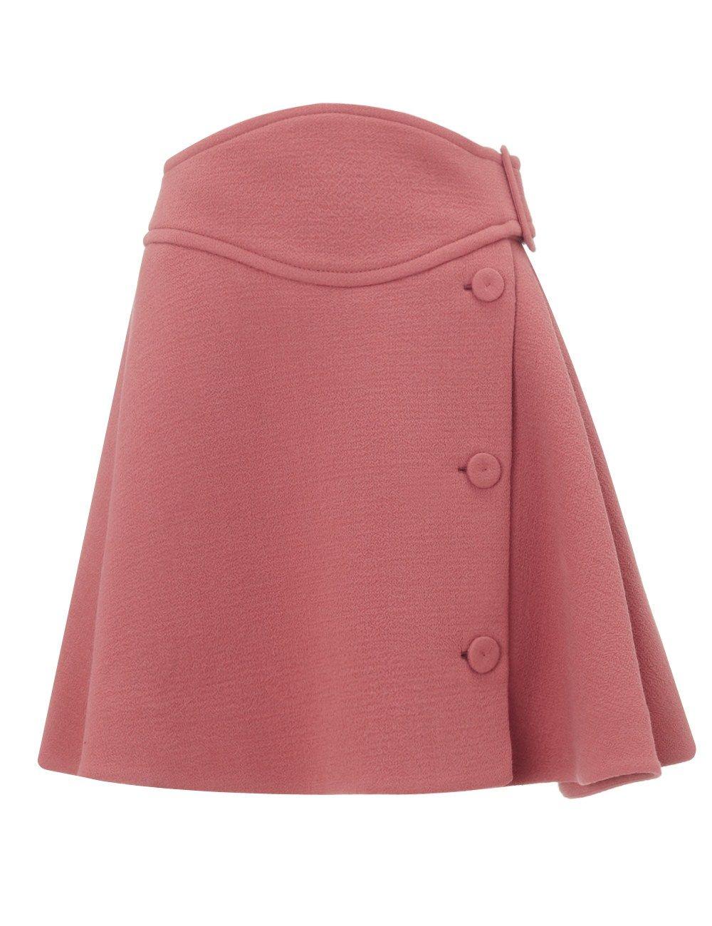 Old Pink Wool Skater Skirt | Carven | Avenue32