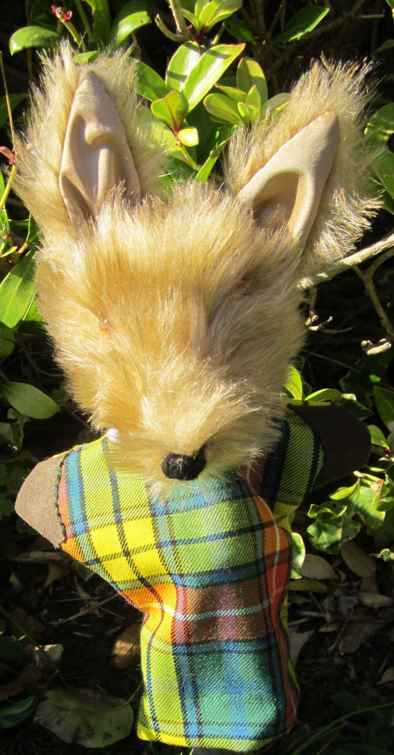 Coyote Hand Puppet All Year Activity Hand Puppet Counsellors' Toy Aid Coyote Basket Fillers Made to Measure Gift Coyote Safe Activity Toy