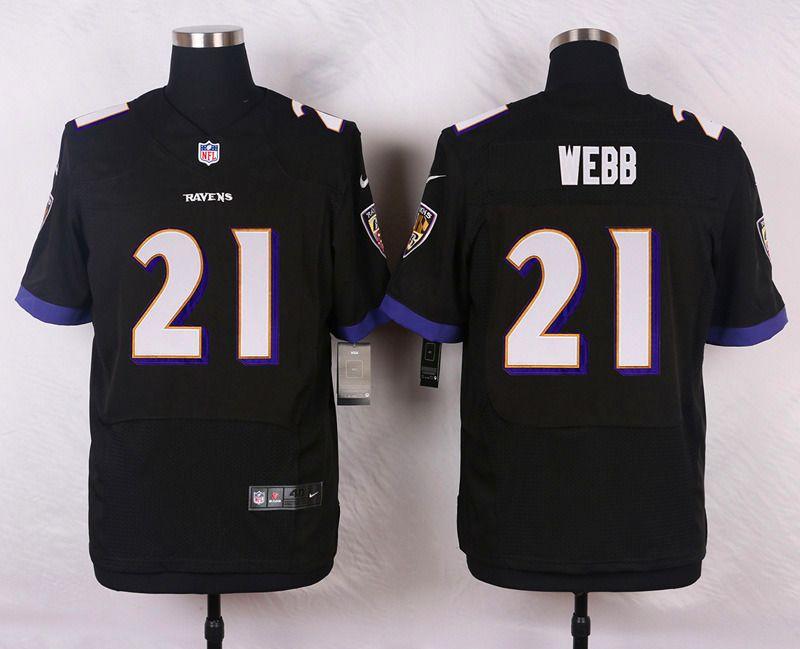 NFL Customize Baltimore Ravens 21 Webb Black Men Nike Elite Jerseys ... caf2221d2