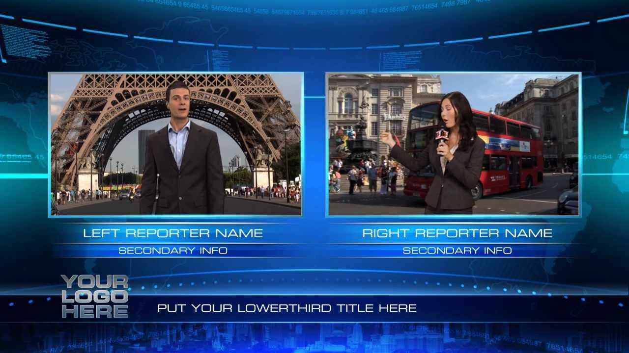 After Effects Virtual Studio Template Bluefx Virtual Studio After Effects Templates After Effects Intro Templates After effects news template free