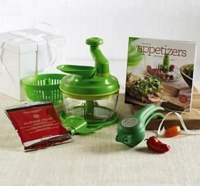 $110.00 - Salsa Celebration Set - Put more zest into any social gathering with this make-and-serve collection. Includes new Zest 'N Press™ Gadget plus Quick Chef® Pro System and 2-oz./56 g package of Simple Indulgence Southwest Chipotle Seasoning Blend plus FREE Amazing Appetizers Recipe Book.