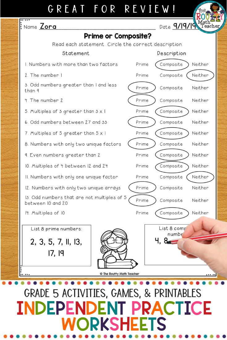 hight resolution of TEKS Math Independent Practice Worksheets- Grade 5   Math teks
