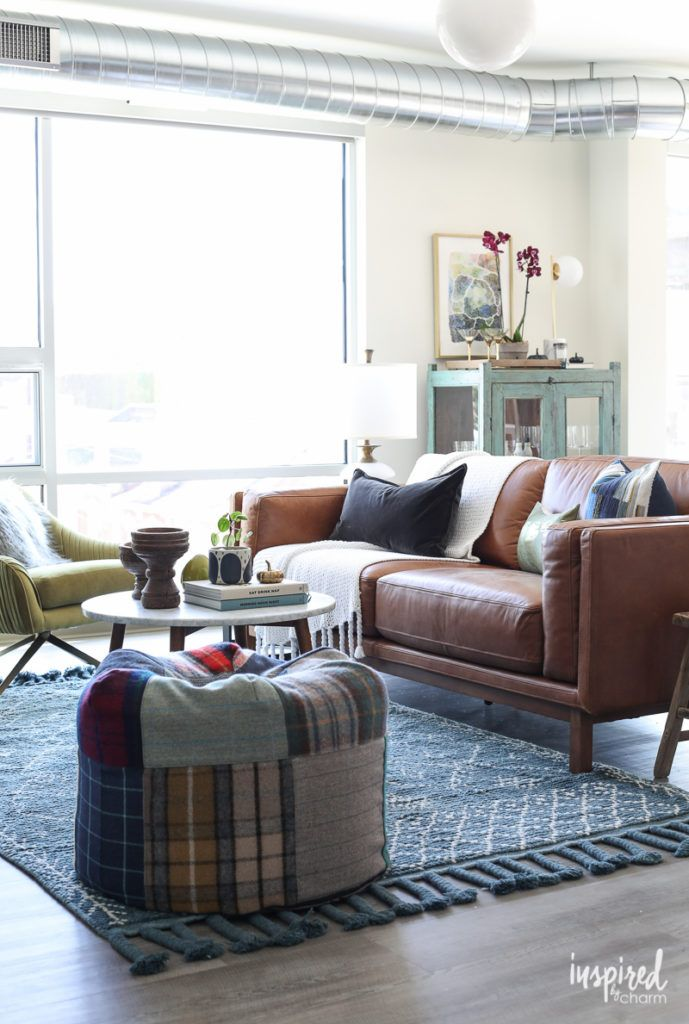 Choosing A Rug For My Apartment Living Room Modern Loft Apartment Decor Livingroom Apartmentt Apartment Decor Loft Apartment Decorating Living Room Designs #small #living #room #rug #ideas