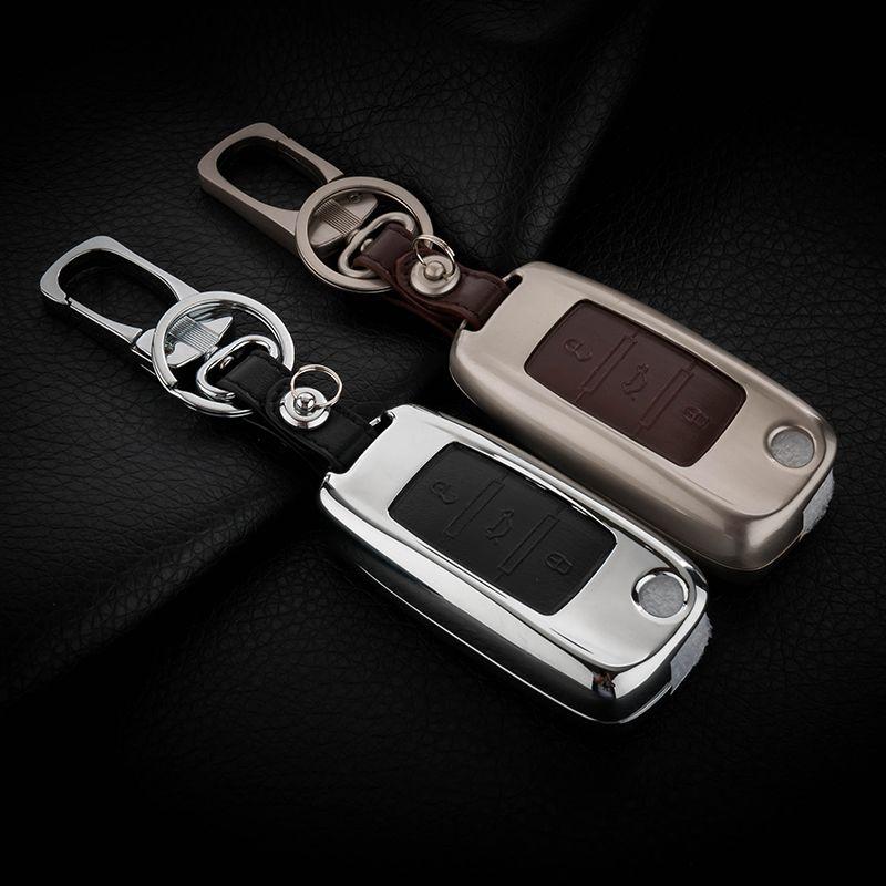 Zinc Alloy Leather Car Key Cover Case For Skoda Octavia 1 2 3 A5