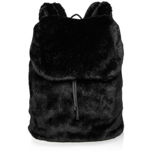 950 Bam Liked On Polyvore Featuring Bags Backpacks Black Puma Bag Backpack Faux Fur And Daypack