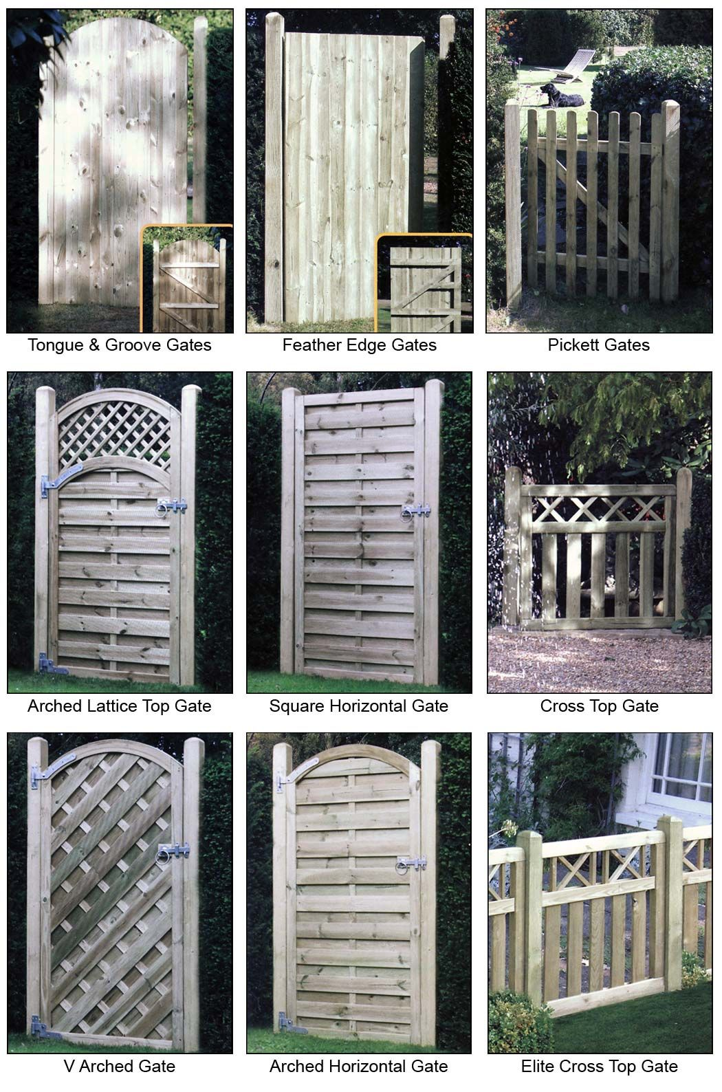 Decorative garden fencing will make your garden stand out gates