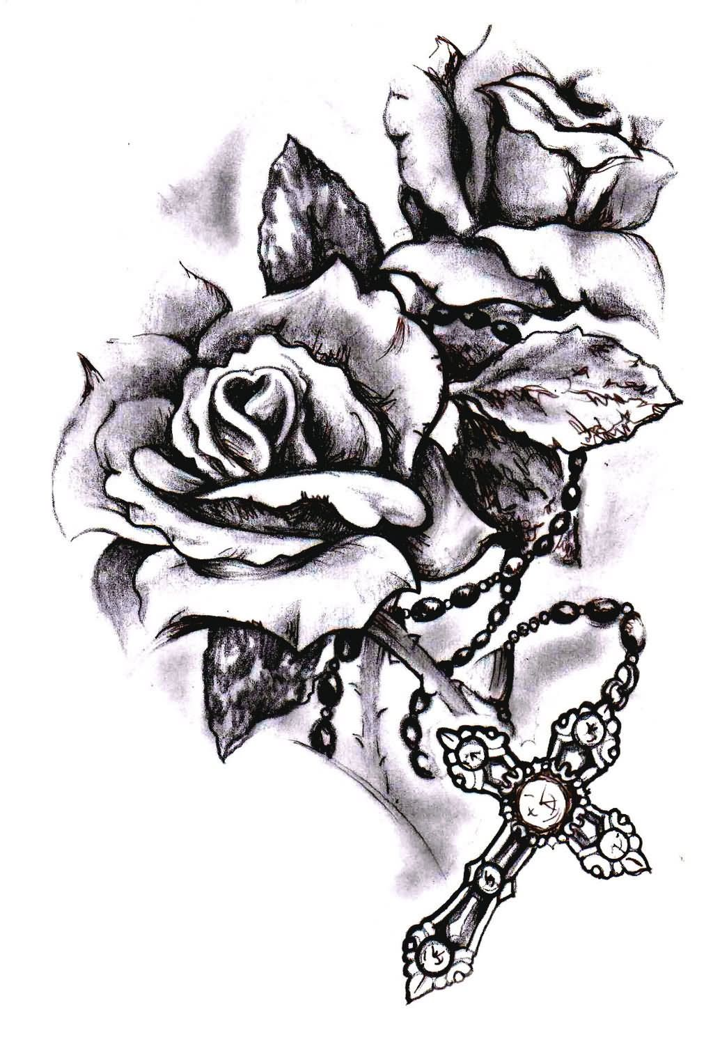 Image result for rose and rosary tattoo | Tattoos and gorgeous art ...