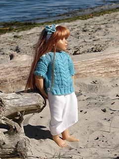 Pacifica ~ a summer inspired tunic sweater especially designed for the Kidz n' Cats ® girls like my model Lena.