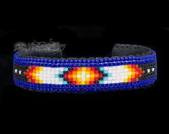 Native American Beaded Cuff Bracelet -Navajo (ij348)