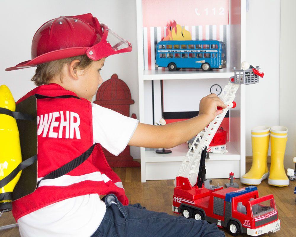 Feuerwehr Kinderzimmer ~ Feuerwehr basteln feuerwache mit rutschstange kidsroom