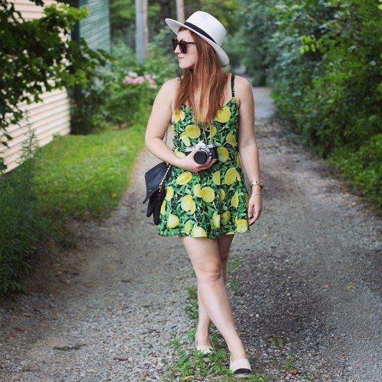 This breezy lemon-print romper is perfect for keeping cool on the last hot days of summer.