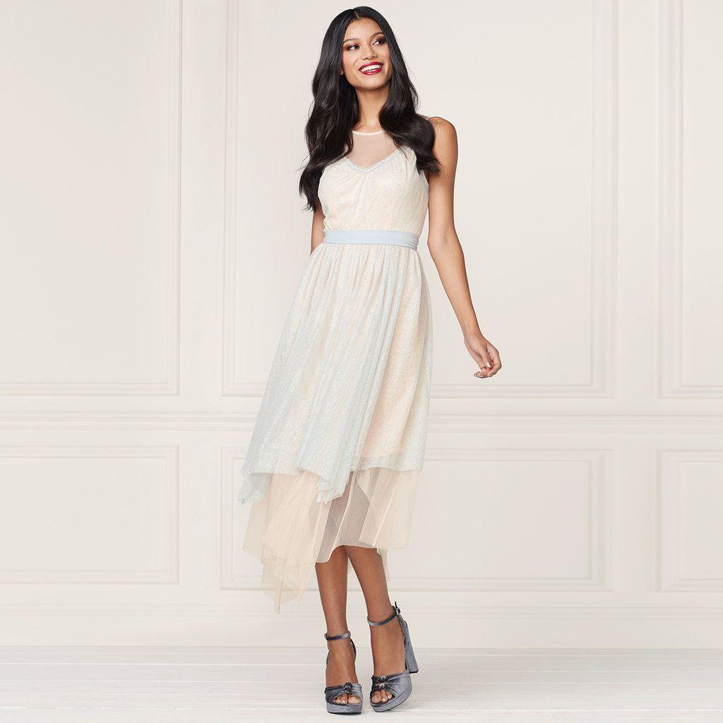 LC Lauren Conrad Runway Collection Layered Tulle Midi Dress ...