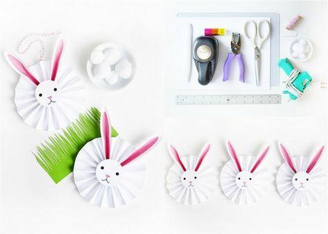 Osterhasen basteln aus Papier - 17 einfache Ideen für Kinder ...