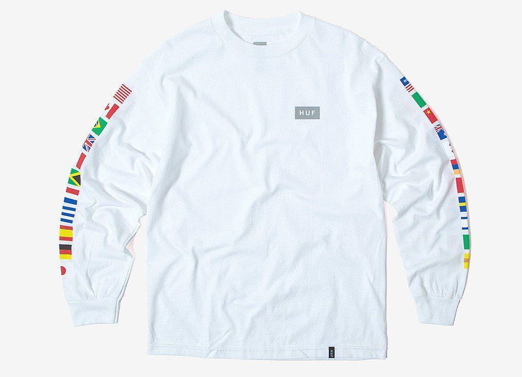 ffcd2978403 HUF Flags Long Sleeve T Shirt - White