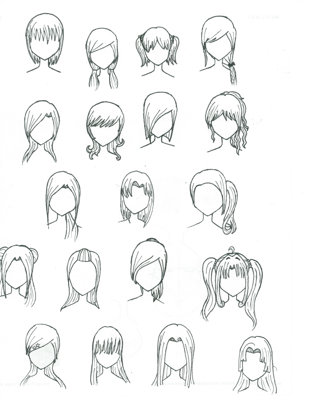 Suzuya Miku Blog Manga Hair Drawings Pencil Drawings Of Animals
