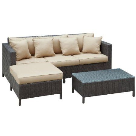Amazon Com Urban Dimension Outdoor Wicker Patio Sectional Sofa Set Patio Lawn Garden Outdoor Sofa Sets Modern Outdoor Sofas Outdoor Sectional Sofa